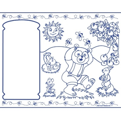 Kids Coloring Activity Sheet Placemats, Animal Theme - 250 Pack