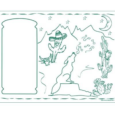 Kids Coloring Activity Sheet Placemats, Mexican Theme | #MA1411MEX ...