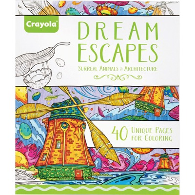 Crayola Dream Escapes Adult Coloring Book 40 Pages