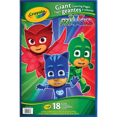 - Crayola PJ Masks Giant Coloring Book, 18 Pages #MCYOGBPJ  PaperRolls-N-More.com