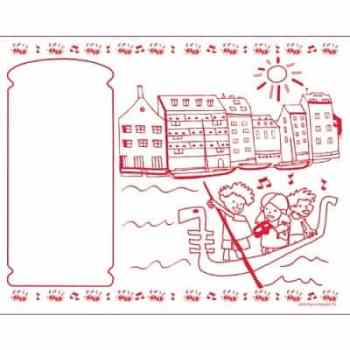 Kids Coloring Activity Sheet Placemats Italian Theme