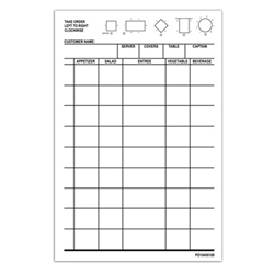 Choice 1 Part Order Pad - 10,000 Checks Total 1 Part Order Pads, Guest Checks, Server order pads, order pads, server pads, restaurant pads, restaurant guest checks