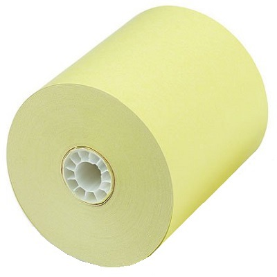 "3 1/8"" x 230 Thermal Paper Rolls Canary 50/box BPA Free canary thermal paper rolls,colored thermal paper rolls, canary paper rolls"