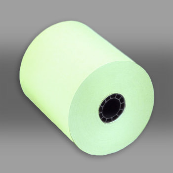 "3"" x 150 Green 1-Ply Bond Paper Rolls 50/box green paper rolls, green carbonless paper rolls"