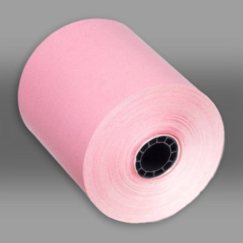 "3"" x 150 Pink 1-Ply Bond Paper Rolls 50/box pink paper rolls, pink carbonless paper rolls"