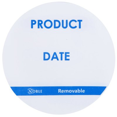 "3"" Product Date Round Removable Label with Dispenser, 500/Roll product dat labels, day dot labels"