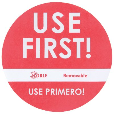 "3"" Use First Removable Round Label with Dispenser, 500/Roll use first labels, day dot labels"