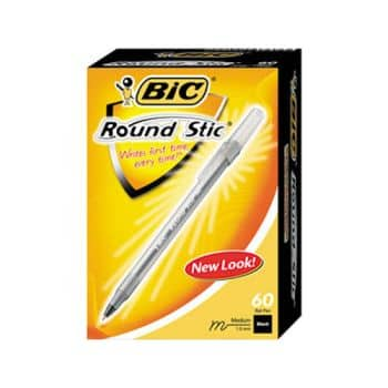 BIC Pen, Black Ink, Medium, 60/Pack Pen, Black pens