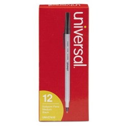 Ballpoint Stick Oil-Based Black Pen, Medium Tip, 12/Pack Pen, Black pens