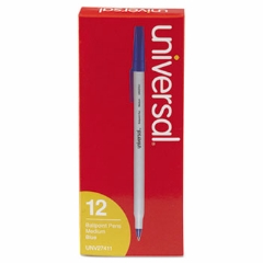 Ballpoint Stick Oil-Based Blue Pen, Medium Tip, 12/Pack Blue Pen