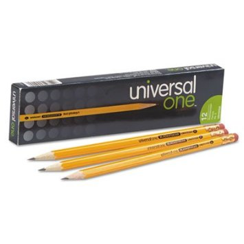 Blackstonian Pencil, HB #2, Medium Soft, Yellow Barrel, 12/Box Pencils