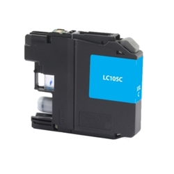 Brother LC105C Cyan Inkjet Cartridge, 1200 Page Yield - Compatible Brother LC105C, LC105C