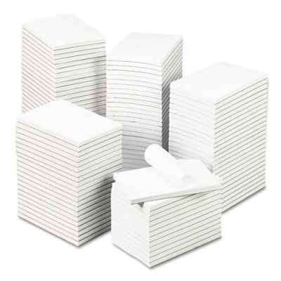 "Bulk White Unruled Scratch Pads Gum Top 3"" x 5"" 100 Sheets-100 Pads/Cs UNV35623, memo pads, memo note pad, 3 x 5 notepads, universal Bulk Scratch Pads, Scratch Pads, 3 x 5blank notepad"