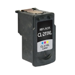 Canon CL-211 Tri-Color Inkjet Cartridge XL (2975B001) - Compatible Canon CL-211, 2975B001