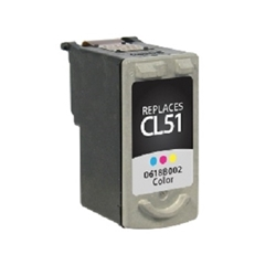 Canon CL-51 Tri-Color Inkjet Cartridge (0618B002) - Compatible Canon CL-51, 0618B002