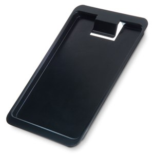 "Check Holder and Tip Tray with Clip, Black, 7 3/4"" x 4 3/8"" tip tray, check presenter, guest check holder"