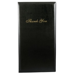 Check Presenter w/ Card & Receipt Pockets, Black Check Presenter, guest check folder
