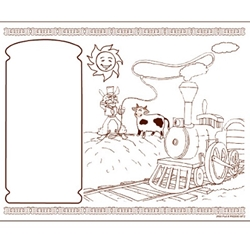 Coloring Activity Sheets, Western Theme, 1000/case Coloring Sheets, Activity Sheets