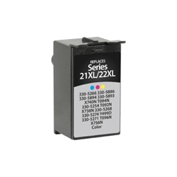 Dell T094N Tri-Color Inkjet Cartridge, Series 21-24 - Compatible Dell T094N