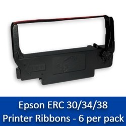 Epson ERC 30/34/38 Printer Ribbons - 6/box erc 30/34/38 printer ribbons, erc 30, erc 34, erc 38
