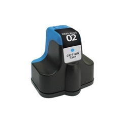 HP 02 Cyan Inkjet Cartridge (C8771WN) - Compatible HP 02 Cyan, C8771WN