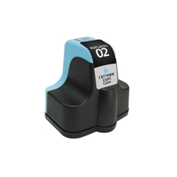 HP 02 Light Cyan Inkjet Cartridge (C8774WN) - Compatible HP 02 Light Cyan, C8774WN