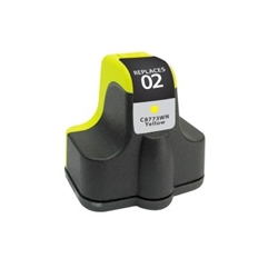 HP 02 Yellow Inkjet Cartridge (C8773WN) - Compatible HP 02 Yellow, C8773WN