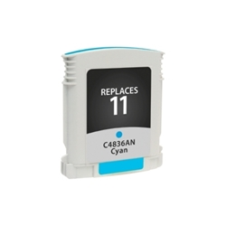 HP 11 Cyan Inkjet Cartridge (C4836A) - Compatible HP 11 Cyan, C4836A
