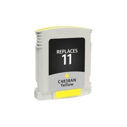 HP 11 Yellow Inkjet Cartridge (C4838AN) - Compatible HP 11 Yellow, C4838AN