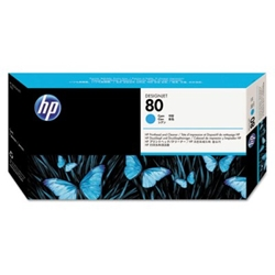 HP 80 - Printhead and Cleaner - Cyan (C4821A) HP 80, DESIGNJET 1050 ink, C4821A