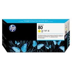 HP 80 - Printhead and Cleaner - Yellow (C4823A) HP 80, DESIGNJET 1050 ink, C4823A