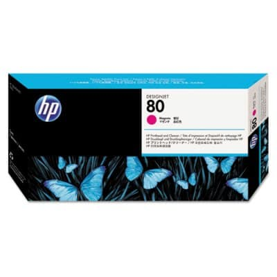 HP 80 - Printhead and Cleaner - Magenta (C4822A) HP 80, DESIGNJET 1050 ink, C4822A