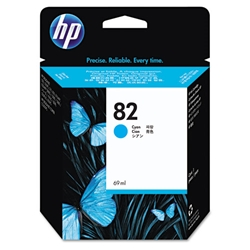 HP 82 - Ink Cartridge - Cyan 69ml (C4911A) HP 82, DESIGNJET 500 ink, C4911A