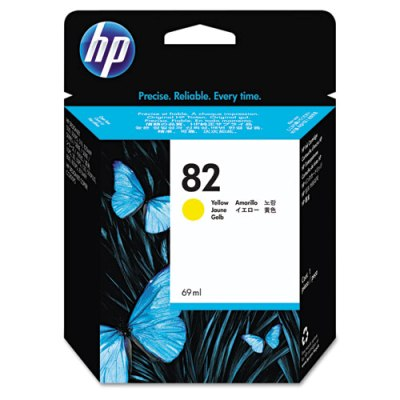 HP 82 - Ink Cartridge - Yellow 69ml (C4913A) HP 82, DESIGNJET 500 ink, C4913A