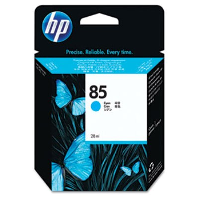 HP 85 - Ink Cartridge - Cyan 28ml (C9425A) HP 85, DESIGNJET 130 ink, C9425A