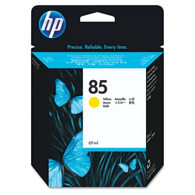 HP 85 - Ink Cartridge - Yellow 69ml (C9427A) HP 85, DESIGNJET 130 ink, C9427A