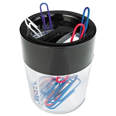 Magnetic Clip Dispenser, Two Compartments, Plastic Clip Dispenser