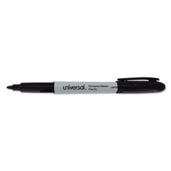 Permanent Markers, Fine Point, Black, 12/Pack Permanent Markers