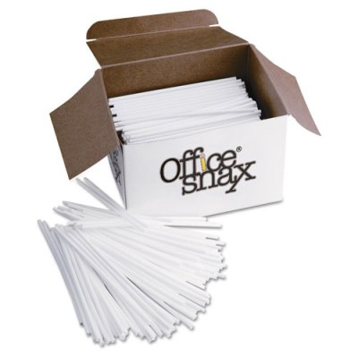 "Plastic Stir Sticks, 5"", Plastic, White, 1000/Box Stir Sticks"