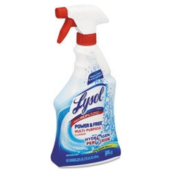 Power & Free Multi-Purpose Cleaner, Citrus Sparkle Zest, 22oz Spray Bottle All-Purpose Cleaner, lysol