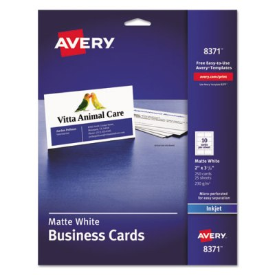 Printable Business Cards Laser 2  x 3 1/2  White  sc 1 st  PaperRolls-N-More & Business Cards u0026 Tent Cards