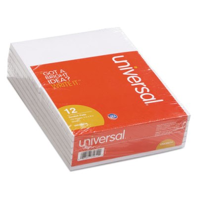 Universal Scratch Pads,  4 x 6 (UNV35614), Unruled, 12 Pack UNV35614, 4 x 6 Scratch Pads, 4 x 6 Unruled pads