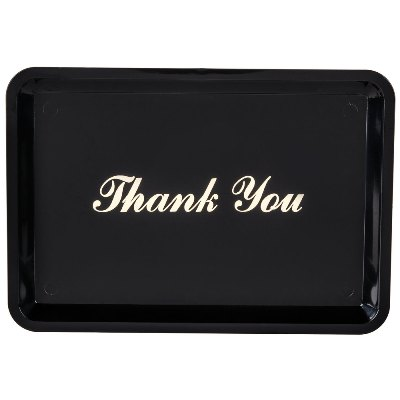 "Check Holder and ""Thank You"" Tip Tray, 4 1/2"" x 6 1/2"" tip tray, check presenter, guest check holder"