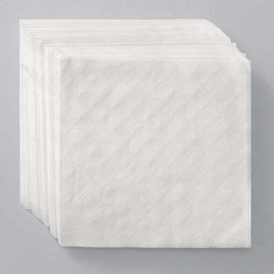 White Lunch Napkins - 1 Ply 1/4 Fold - 6,000/Case Beverage Napkins, bulk napkins, restaurant napkins, bar napkins