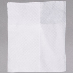 White Mid-Fold Napkins - 1 Ply 1/8 Fold - 6,000/Case dinner Napkins, bulk napkins, dispenser napkins