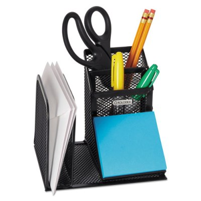 Wire Mesh Desk Organizer with Pencil Storage, Black Desk Organizer