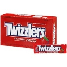 Twizzlers Strawberry Twists, 2.5 oz bags, 36/Ctn Twizzlers Strawberry Twists