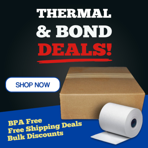 Thermal and Bond Paper Roll Discounts