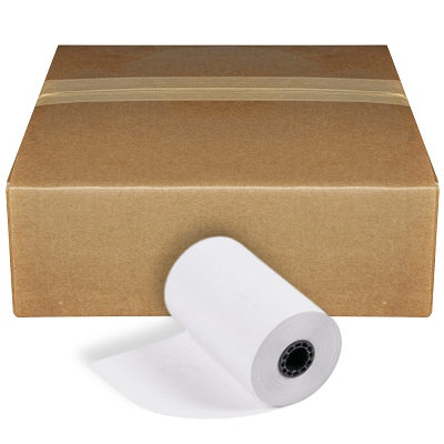 "2 1/4"" x 50' Thermal Credit Card Receipt Paper Rolls 50/Box, BPA Free"