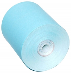 3 1/8 x 220 blue thermal receipt paper rolls